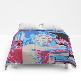 Girl Contemplating Comforters