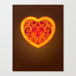 Follow Your Heart Container Canvas Print