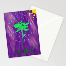 funny green rose Stationery Cards
