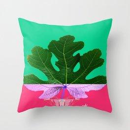 Fig Leaf Diamond Christmas - Other Half and Half Throw Pillow