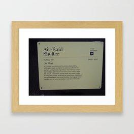 Air-Raid Shelter Sign Framed Art Print