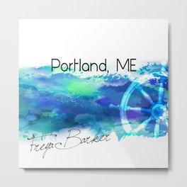 Portland, ME Metal Print