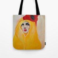 broken Tote Bags featuring Broken by Felicia Atanasiu