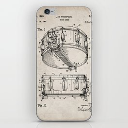 Snare Patent - Musician Art - Antique iPhone Skin