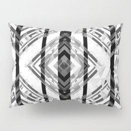 Black and White Tribal Boho Pillow Sham