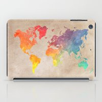 world maps iPad Cases featuring World Map Maps by jbjart