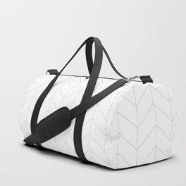 Herringbone Black and White Duffle Bag