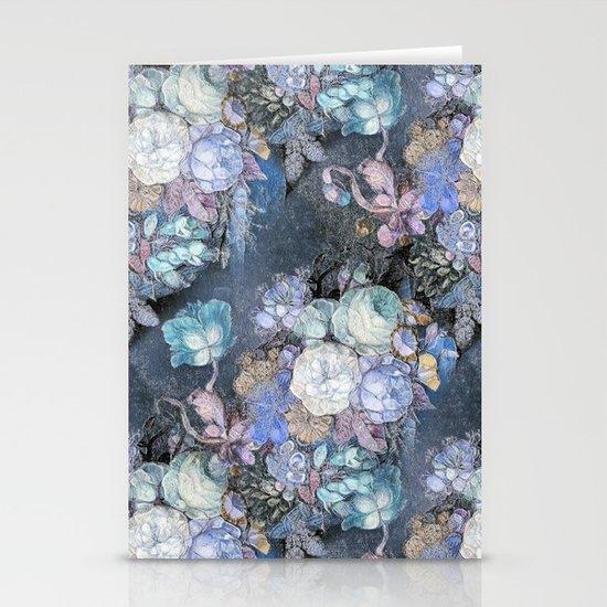 Vintage Blue Jeans Bouquet Stationery Cards