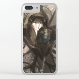 Crow Clear iPhone Case