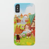 animal crossing iPhone & iPod Cases featuring Animal Crossing by Sama Ma