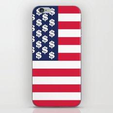 usa dollar flag iPhone Skin