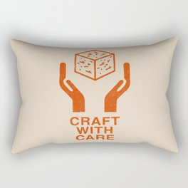 Craft With Care (Orange) Rectangular Pillow