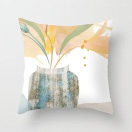 FLO-480 Sunshine in a Vase  Throw Pillow