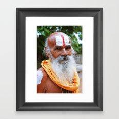 Saint smile Framed Art Print