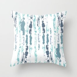 Stringy (and Happy) Pea Pods Throw Pillow