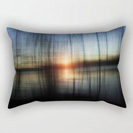 Sunset Blur Rectangular Pillow