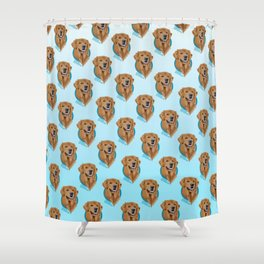 Golden Retriever Print Shower Curtain