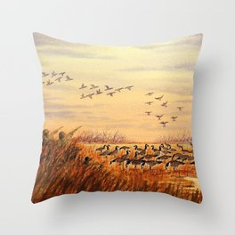 Goose Hunting Companions Throw Pillow