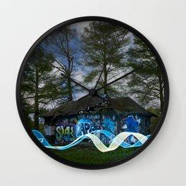 Graffiti long-exposure Wall Clock