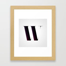 The Letter W Framed Art Print