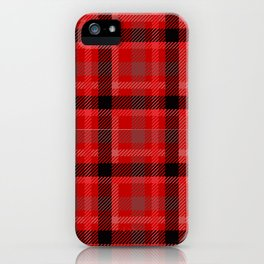 Red And Black Plaid Flannel iPhone Case