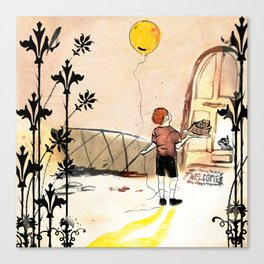 the boy with the globe Canvas Print