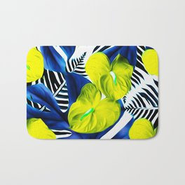 Anthurium yellow Bath Mat