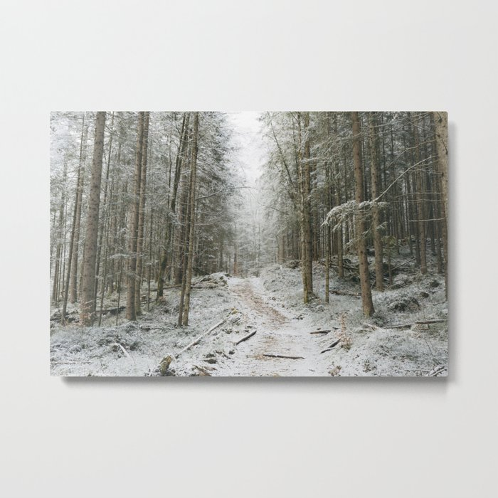 For now I am Winter - Landscape photography Metal Print