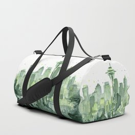 Seattle Watercolor Painting Duffle Bag