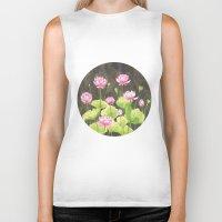lotus flower Biker Tanks featuring Lotus by Carla Adol