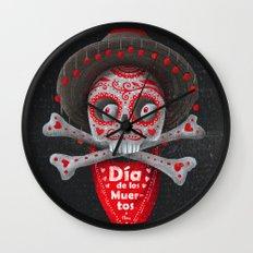 Día de Muertos Wall Clock