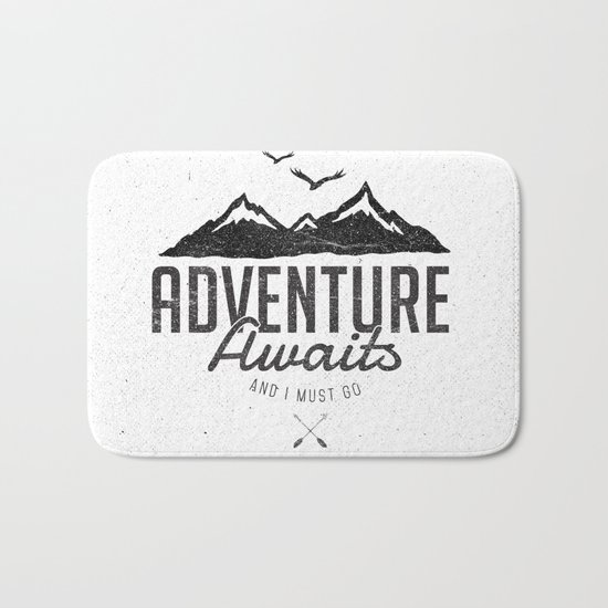 ADVENTURE AWAITS Bath Mat