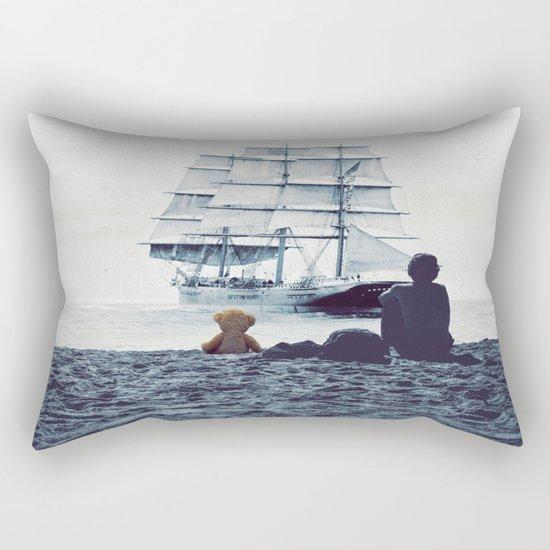 Boy with Teddy Rectangular Pillow