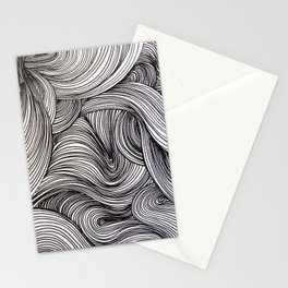 Black Swirlies Stationery Cards