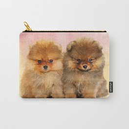 Cute Pomeranian Puppies Carry-All Pouch