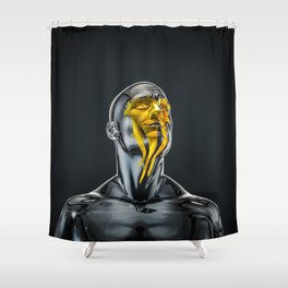 Love is the Only Gold Shower Curtain