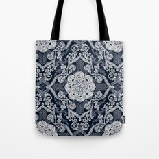 Centered Lace - Dark Tote Bag