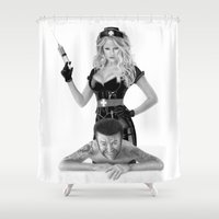 medicine Shower Curtains featuring Bad medicine by Giampaolo Casarini