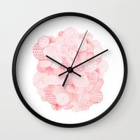 fireworks Wall Clocks featuring Fireworks by Marcelo Romero
