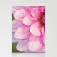 dahlia Stationery Cards featuring dahlia by Beverly LeFevre