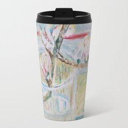 Almond blossoms in the glass Travel Mug