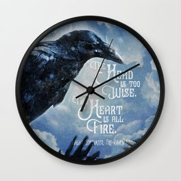 The Raven King - All Fire Wall Clock