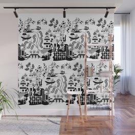 Goo Willow: Black on White Wall Mural