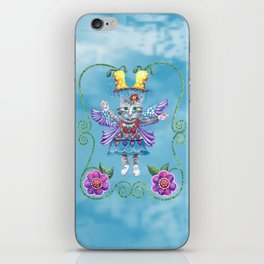 Angel Kitty (Turquoise) iPhone Skin