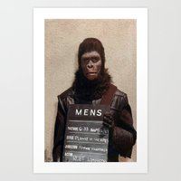 planet of the apes Art Prints featuring Planet of the Apes  by Rotton Cotton Candy