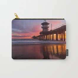 HB Sunsets  3-21-16 - Sunset At The Huntington Beach Pier Carry-All Pouch
