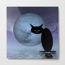 mooncats -5- unreachable Metal Print