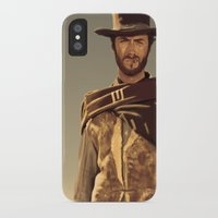 clint eastwood iPhone & iPod Cases featuring Clint Eastwood by Thousand Lines Ink