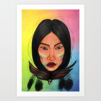 india Art Prints featuring India by Melanie Arias