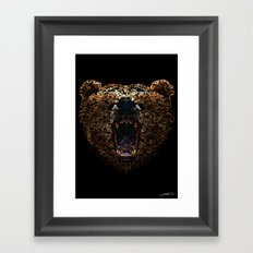 Floral Bear Framed Art Print